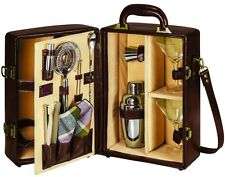 Manhattan Portable Cocktail Case Bar Set Party Tool Wine Bottle Leather Storage