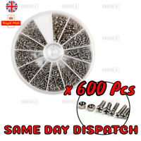 600 Pcs Set Stainless Steel Nuts Bolts small Screws Kits Assorted phone glasses