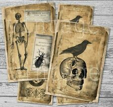 HALLOWEEN 4 Postkarten Grußkarten Vintage style