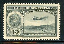VENEZUELA MNH Selections: Scott #C110 3.70B Gray Black Air Post CV$7+
