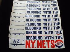 Original 1970's NY Nets ABA Basketball Bumper Sticker