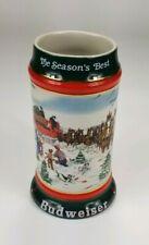 "New listing Anheuser-Busch Budweiser Collectors Series ©1991 The Season'S Best Beer Stein 7"""