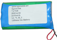 7.4V 3200mAh 2S1P 18650 Li Ion Battery Pack PCB protected Panasonic Cells
