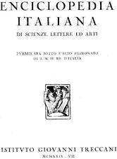 """enciclopedia treccani 1a Edizione 1929 - 1978 """"ottime condizioni"""""""