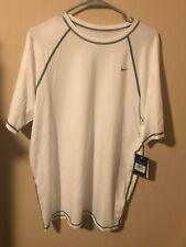 NWT Nike Men's XL Hydro Stretch UV S/S White NESS6440-100