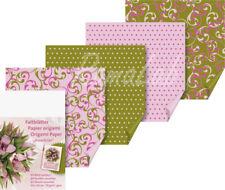 64 FOGLI PER ORIGAMI STAMPATI 10X10 CM SCRAPBOOKING PAPER carta a pois rosa