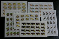GAMBIA 6 FULL  SHEETS VF NH** AFRICAN WILDLIFE HIGH VALUES CANADA SHIP $1.99 US