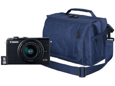Pack Cámara EVIL - Canon EOS M100, 24.2MP FHD Negro