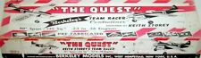 Berkeley TWO QUEST PLANS + CONSTRUCTION ARTICLE of UC TEAM RACER Model Airplane