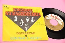 """EDIZIONE STRAORDINARIA 7"""" DISTRAZIONE ORIG ITALY PROG 1976 DISCO EX+"""