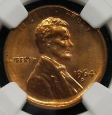 1964 D LINCOLN CENT HUGE BROADSTRUCK STRUCK ERROR RARE BEAUTIFUL COIN NGC CERT