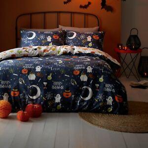 Bedlam Happy Halloween Reversible Glow in the Dark reversible Duvet sets