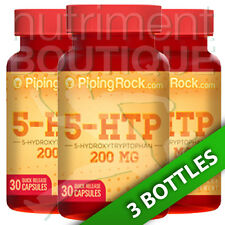 5-HTP 5-Hydroxytryptophan 200MG 3X30 or 1X90 Caps by Piping Rock