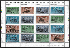 Canada — Full Pane of 16 — 2nd World War - 1944: Victory in Sight #1537-40 — MNH