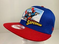 New Era DC Comics Superman 9Fifty Baseball Cap Hat Red Blue Snapback S-M NEW