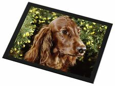 Irish Red Setter Dog Black Rim Glass Placemat Animal Table Gift, AD-RS1GP