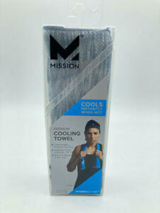 Mission HydroActive Premium Techknit Large Towel - Charcoal Gray Spacedye