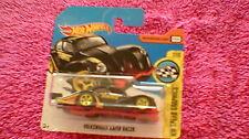 Hot Wheels - UK Card - #156 Volkswagen Kafer Racer - Black