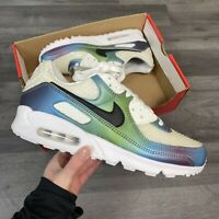 NIKE AIR MAX 90 20 GS BUBBLE PACK KIDS WHITE TRAINERS SIZE UK5 US5.5Y EUR38