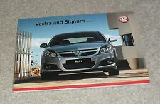 Vauxhall Vectra & Signum Brochure 2007 SRI Elite Design 3.0 1.9 CDTI 2.8i V6 2.0