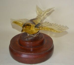 Murano Glass Paperweight Swallow in Flight Flying Swallow - Very Heavy A/F