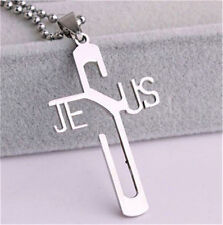 Women Men Fashion Silver Titanium Pendant Necklace Chain Stainless Steel Cn