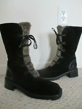 Stuart Weitzman Faux Fur Lined Boots Size 7.5  lace-up
