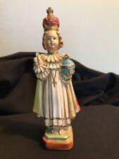 Vintage Retro Plastic Christmas Holiday Child Pope Catholic Bishop Topper Figure