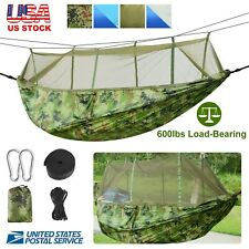 600lbs Double Person Camping Hammock Tent with Mosquito Net Hanging Bed Portable