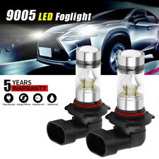 Pair 9005 LED Headlight Kits 100W 20000LM FOG Light Bulb 6000K Driving DRL Lamp