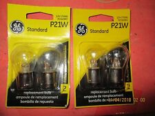P21W--GE--LOT OF 4--[2 CARDS]-Turn Signal Light Bulb-P21W/BP2-12498-7506