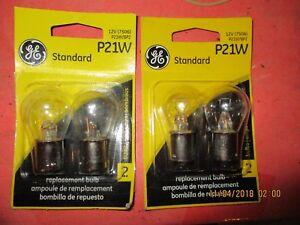 P21W--GE--LOT OF 4--[2 CARDS]-Turn Signal Light Bulb-P21W/BP2-12498-7506