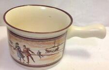 Watkins Almanac Chili / Soup Bowl Handled Mug January 1902 Stoneware Skaters Ec