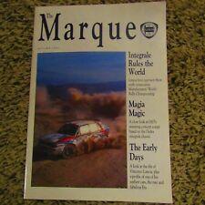 LANCIA THE MARQUE Thema Integrale Rally Book Magazine Brochure Autumn 1992