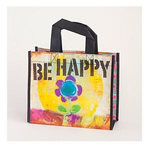 NATURAL LIFE GIFT BAG BE HAPPY 80% RECYCLED PLASTIC BOTTLES NEW