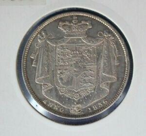 1836 William IV Silver Halfcrown coin - High Grade