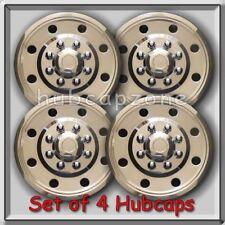 "16"" Stainless Steel Hubcaps, Wheel Covers for Single Rear Wheel Trucks, RV's"