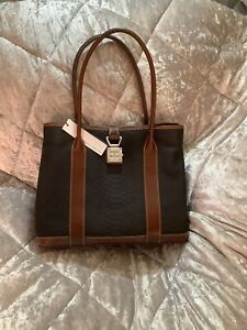 Dooney And Bourke Black Layla Leather Tote Bag NWT