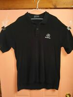 Mercedes Benz Mens Polo Shirt XL Black Long Tail Embroidered Logo xl