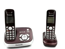 Panasonic KX-TG6572R DECT 6.0 Phone with Answering System, Wine Red - Used