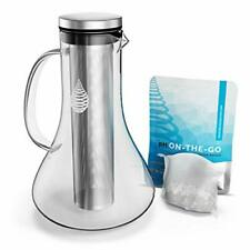 VETRO PH rifornimento di acqua alcalina Brocca/Caraffa-Filtro acqua alcalina