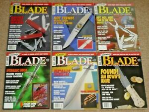 Lot of 6 BLADE Magazines 1993 Volume 20 Uncirculated NOS w/ Knife Trading Cards
