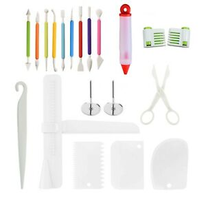 20 Pcs Baking Accessories Fondant Cake Carved Pens Decorating Bakery Tools Sets