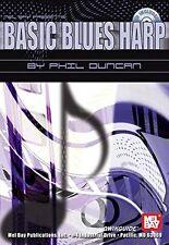 """Basic Blues Harp"" Music Book/Cd Brand New On Sale Guitar Instructional/Method!"
