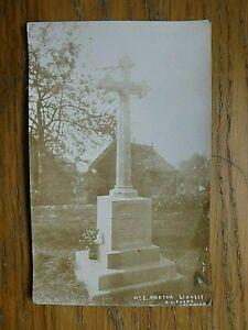 1920 Real Photo Postcard Of Norton Lindsey WW1 War Memorial Warwickshire