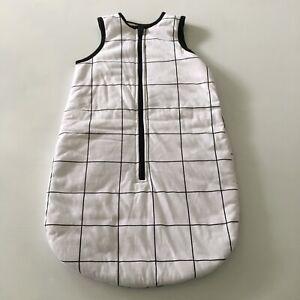 Baby Sleeping Bag Size 00 / 3-6 Months Black & White Check Unisex