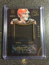 2014 Black Gold JOHNNY MANZIEL Rookie AUTO Jersey Relic Card #87/99 BROWNS RPA