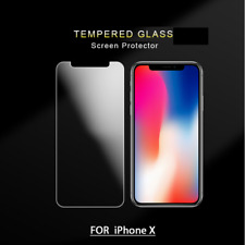 100% Front + Back Genuine Tempered Glass Protector for iPhone X 2017
