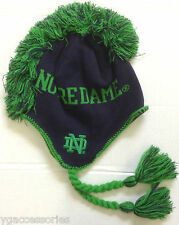NWT NCAA Notre Dame Adidas Youth Knit Mohawk Tassel Hat Cap Beanie NEW!