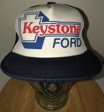 Vintage KEYSTONE FORD 80s Trucker hat Cap Snapback Made In USA Automotive RARE